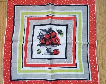 Tammis Keefe Fruit Vintage Hankie