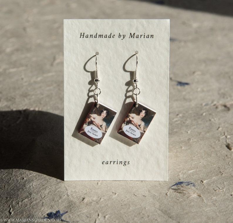 Emma book earrings Jane Austen great gift for a teacher image 0