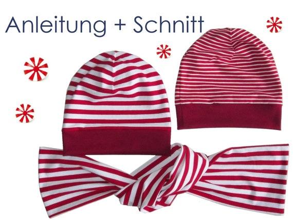 Schnitt Anleitung Beanie Mütze 2 Varianten Schal | Etsy