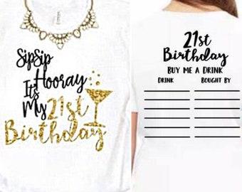 Twenty First Birthday Shirt