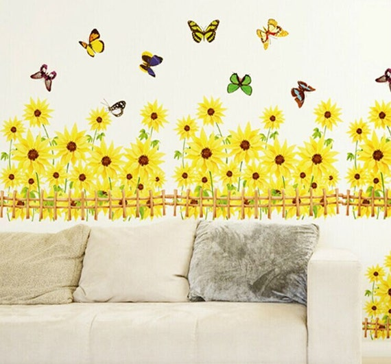 DIY Sunflower PVC Removable Wall Sticker Decal Mural Bedroom Living Room Decors