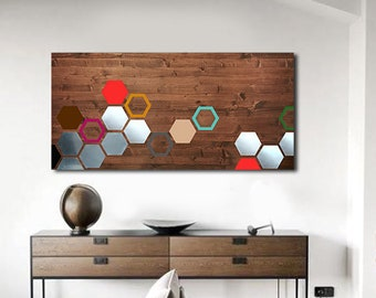 Metal Art Wood Wall Art Modern Home Wall By Lauraashleywoodart