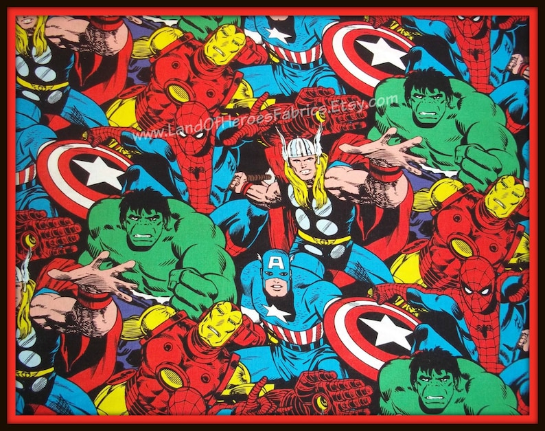 Fat Quarter Marvel Comic Cover 100/% Cotton Quilting Fabric Springs Fabric 57572