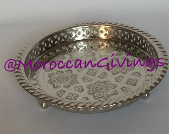 Authentic Moroccan Elegant handcrafted Alpaca Silver MalakiTeapot from Fez .