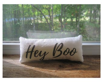 Hey Boo shelf sitter, small gift,  window decor, desk accessories, office gifts
