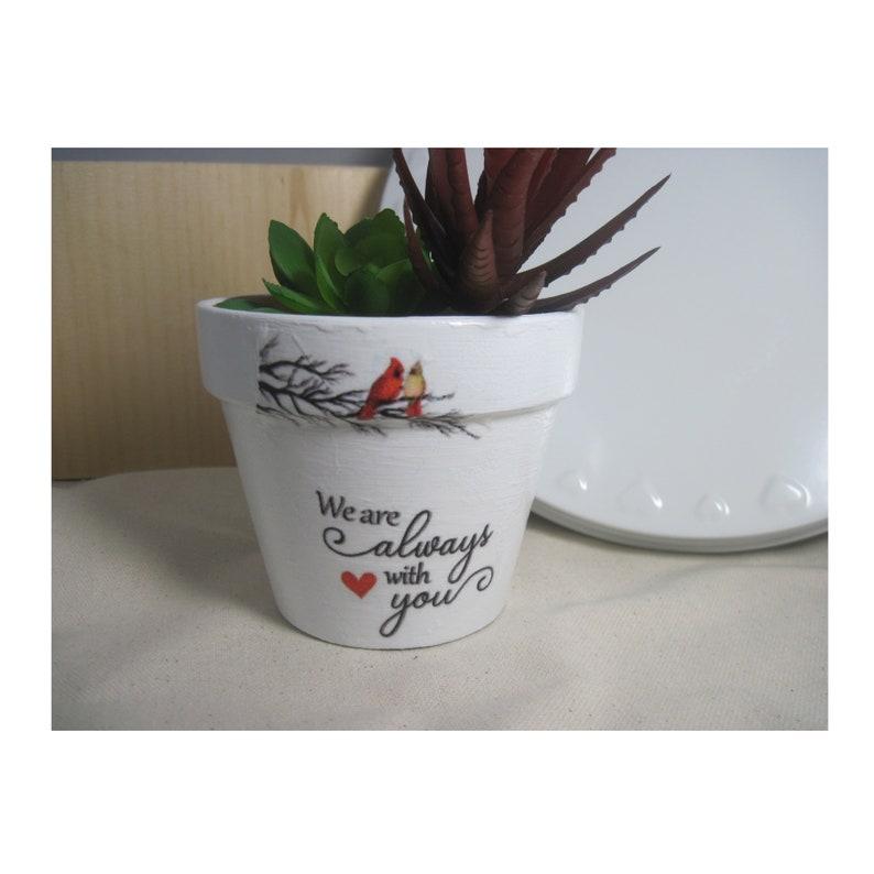 Cardinal gift Cardinal succulent planter pot Cardinal plant pot Memorial plant pot