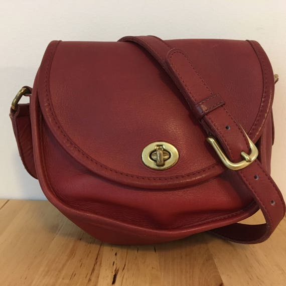 Vintage Coach Watson Bag 9981 Red  0c177817b7d9a