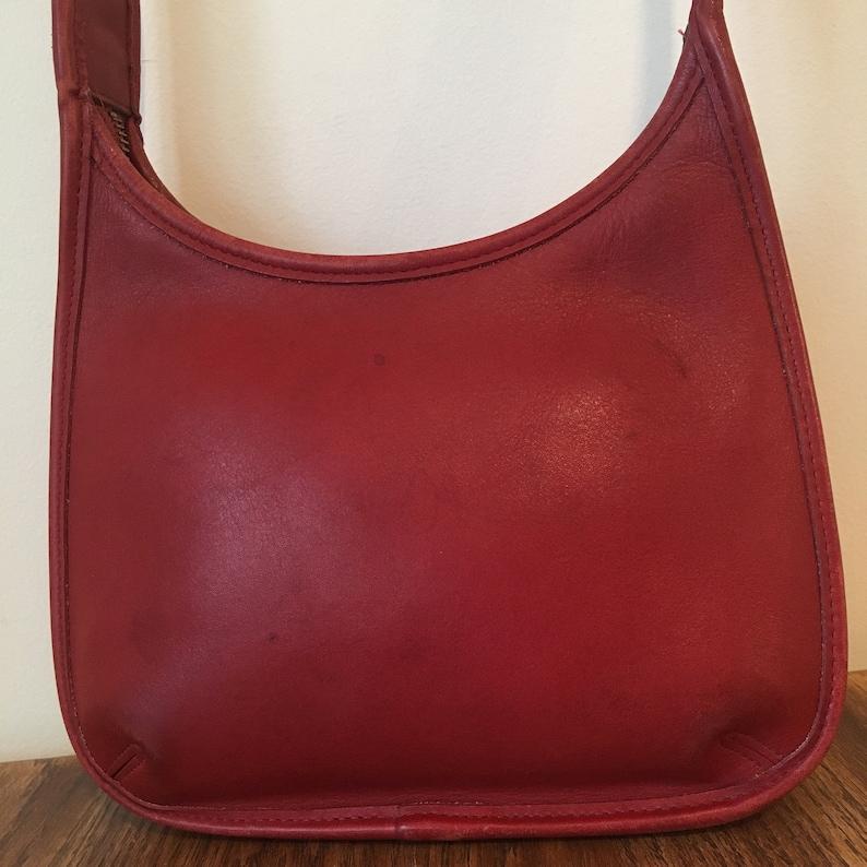 29d68bf533 Vintage Coach Ergo Legacy Bag Red Leather