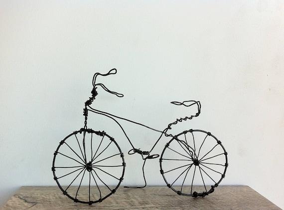 Draht Fahrrad Metall-Skulptur Schrott Metall Kunst   Etsy