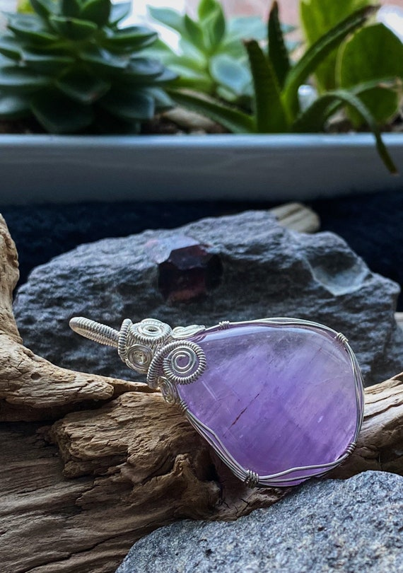Wrapped Amethyst Pendant