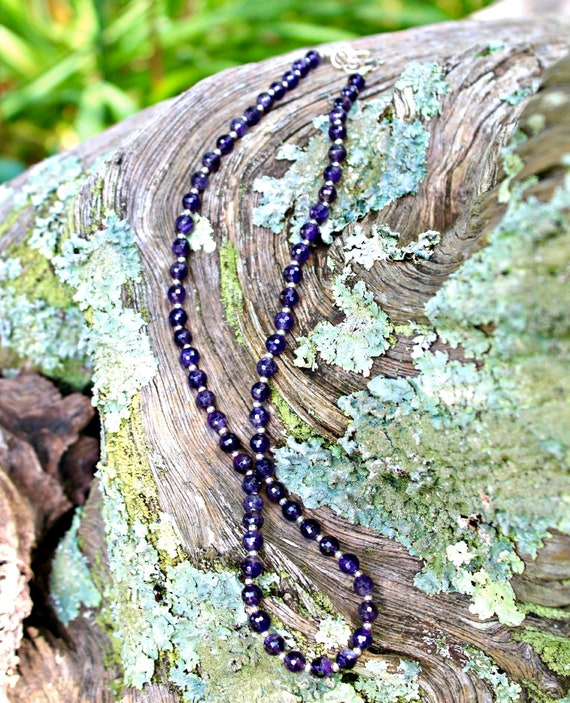 Faceted High Grade Amethyst Necklace