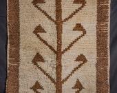 Vintage Tullu Rug (Shepherd 39 s Bed) from Central Anatolia Turkey, Turkish Tulu Tree of Life Pattern, (103 cm x 190 cm) 3 39 5 39 39 x 6 39 3 39 39