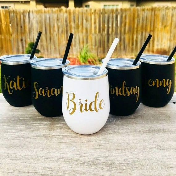 Wine Tumbler Bachelorette Party Gifts Bridesmaid Gifts Teacher Etsy
