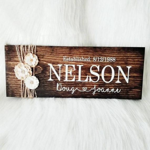 Personalized Wooden Sign Personalized Wedding Gift Gift Etsy