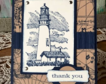 Thank You Card - Lighthouse