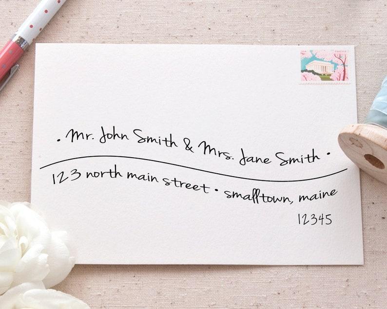 photo regarding Printable Envelope Address Template named Hand-Lettered Printable Envelope Cover Template