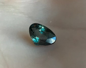 Fat Pear Tear Drop Corundum Faceted Loose Unmounted Purple to Green Untreated Gemstone Color Change Natural Sapphire 7x5mm 0.84 Carat