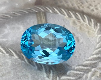 8.3x7mm Blue Zircon 2.2 carat Oval Loose Gemstone Unmounted For Jewelry Design Greenish Blue Zircon December Birthstone Natural Loose Zircon