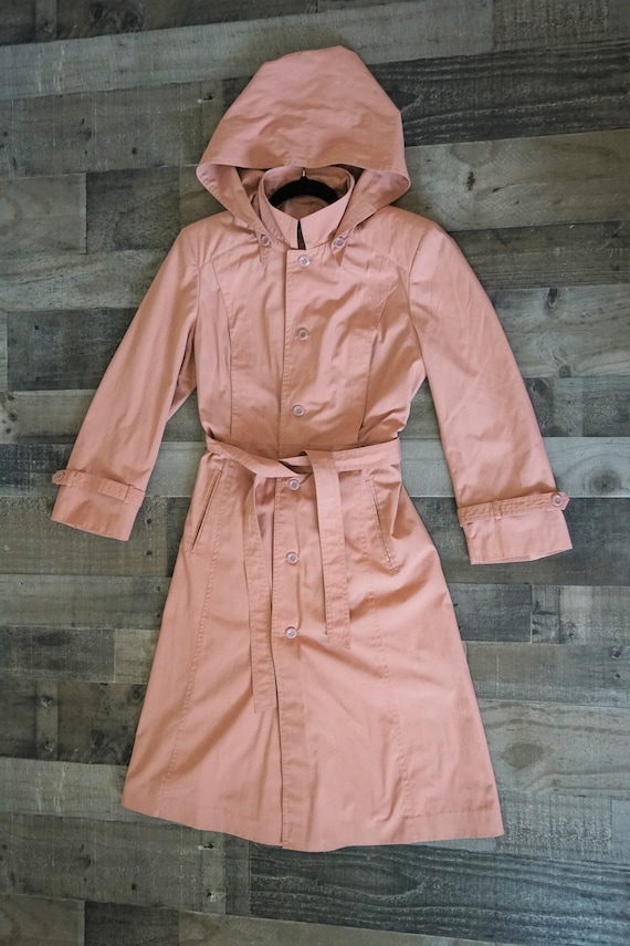 Fitted Dusty Pink Princess Style Trench Coat with