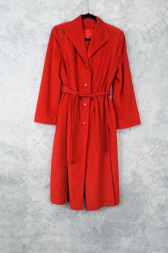 Red Skin Gear II Non Leather Suede Trench Coat/ Vi