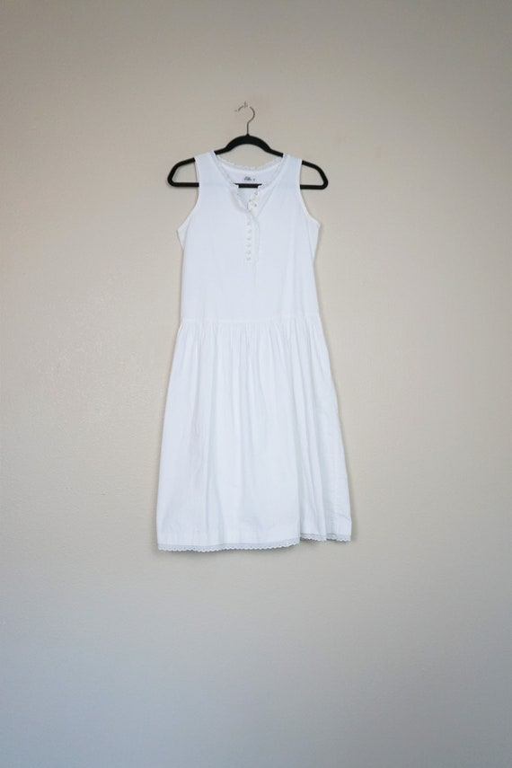 You Babes II White Cotton Dress with Eyelet Lace T