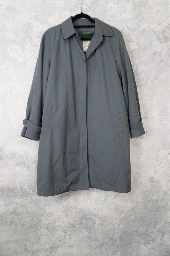 Dusty Blue London Towne Trench Coat/ Vintage Blue