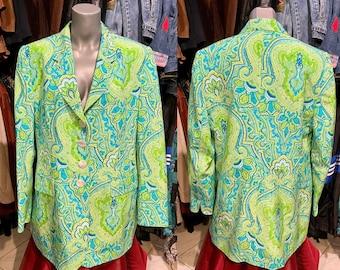 1980/'s psychedelic secret garden blazer