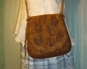 Crossbody shoulder bag 'Autumn Leaves' Hand Made Felt