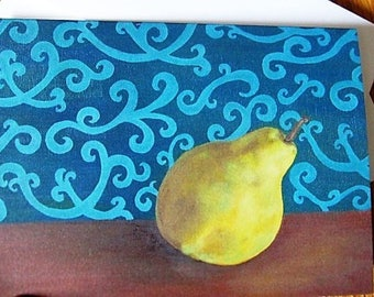 Cards: Pear with Swirls