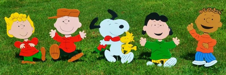 Charlie Brown COMBO Christmas Yard Lawn Art Cartoon Ornaments