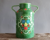 Large French Milk Churn with Swedish Style Handpainted Flowers