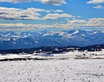 Snowy Peaks-Beartooth Mountain Range