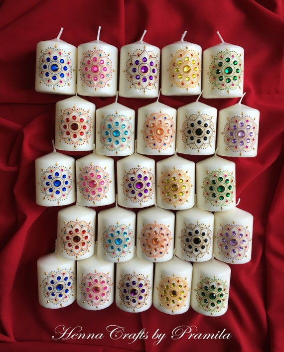Set Of 30 Indian Wedding Party Favor Candles Indian Gifts Weddingbirthdaybridalbaby Shower Favors Hostess Gifts Wedding Return Gifts