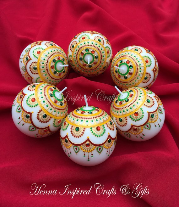 Indian Wedding Favor Ideas: Items Similar To Set Of 10 Candles, Indian Wedding