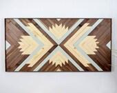 ANANDA Wood Wall Art - Wooden Wall Art - Geometric Wood Art - Wooden Wall Art - Modern Wood Art - Boho Wood Art - Wood Wall Decor