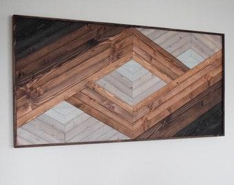 PORTAL Wood Wall Art - Geometric Wooden Artwork for Modern Spaces - Wood Home Decor