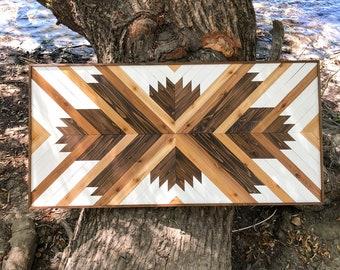 METTA in Brown Gradient - Wood Wall Art - Wooden Wall Art - Geometric Wood Art - Wooden Wall Art Hanging - Modern Wood Art - Wood Wall Decor