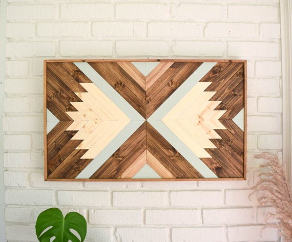 INDRA Wood Wall Art Wooden Wall Art Geometric Wood Art | Etsy