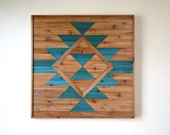 EVERLASTING LIFE Wood Wall Art - Wooden Wall Art - Geometric Wood Art - Wooden Wall Art Hanging - Modern Wood Art - Wood Wall Decor