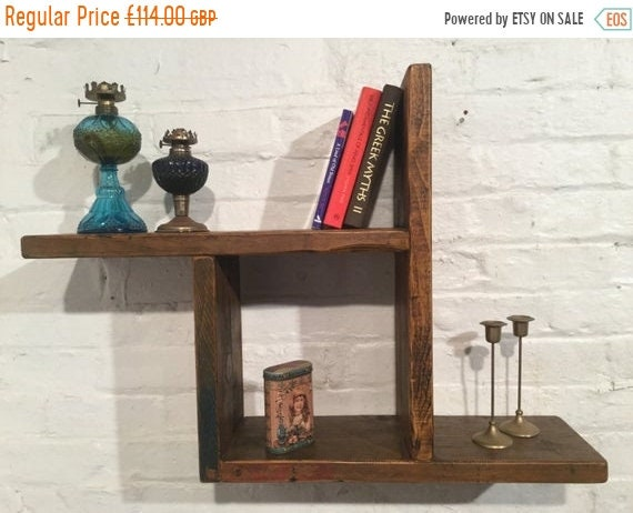 August sale Reclaimed Solid Wood Pine Storage Bookcase Cabinet Wall Book Shelf Cube - Built to Last by Village Orchard Furniture