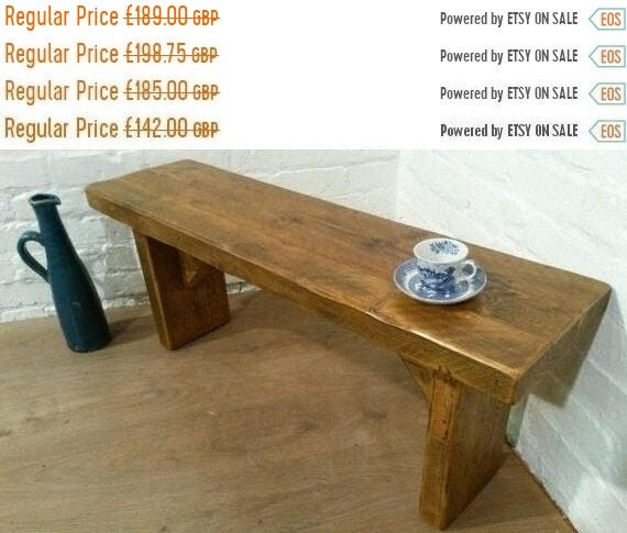 Autumn Sale FREE DELIVERY! X-Wide 5ft Hand Made Reclaimed Rustic Pine Beam Solid Wood Contemporary Coffee Table
