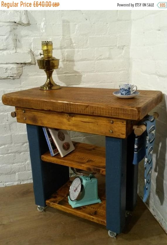 BIG Sale FREE Delivery! HandMade Country F&B Painted Solid Pine Butchers Block Table Kitchen Island Village Orchard Furniture