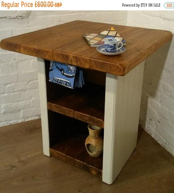 Spring-Sale FREE Delivery! F&B Solid Reclaimed Pine Butchers Block Kitchen Island Village Orchard Furniture