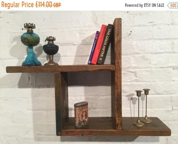 Halloween Sale Reclaimed Solid Wood Pine Storage Bookcase Cabinet Wall Book Shelf Cube - Built to Last by Village Orchard Furniture