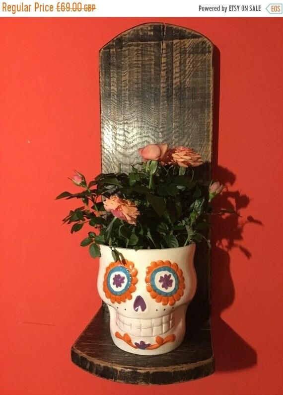 HUGE Sale Huge-Gothic Hand Made Solid Reclaimed English Oak Kitchen Study Bedroom Candle Plantpot Shelf