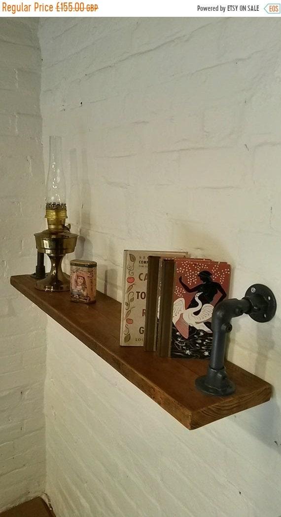 Sept Sale FREE DELIVERY! Reclaimed Vintage Solid Wood Galvanised Steel Pipe Industrial Bookcase SHELF *Bespoke - Built To Last*