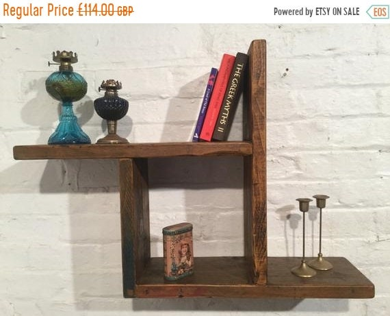 XMAS Sale Reclaimed Solid Wood Pine Storage Bookcase Cabinet Wall Book Shelf Cube - Built to Last by Village Orchard Furniture