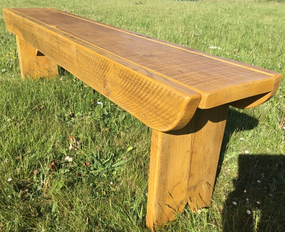 Bespoke Order for Ian - Golden Oak Old School Antique Rustic SoliD Reclaimed Pine Dining Benches