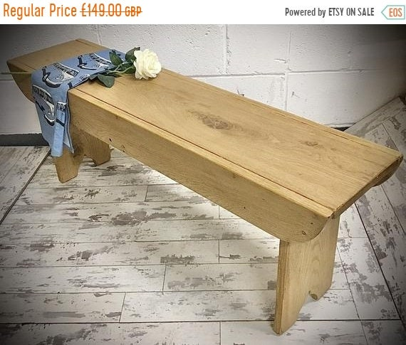 JAN SALE Craftsman Hand Made Solid Wood Oak School Dining Table Bench