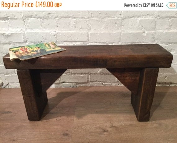 August sale HandMade 1800s Solid Rustic Wood Reclaimed Pine Dining Table Chair Vintage Bench - Village Orchard Furniture